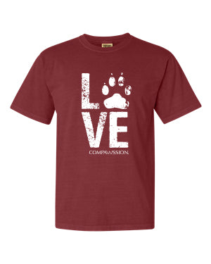 Love Paw Unisex T-Shirt (Brick)