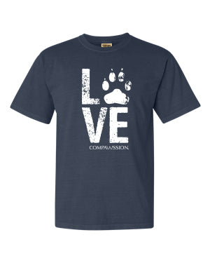 Love Paw Unisex T-Shirt (Denim)
