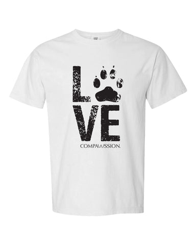 Love Paw Unisex T-Shirt (White)