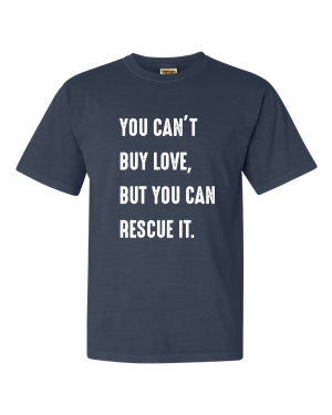 Can't Buy Love Unisex T-Shirt (Denim)