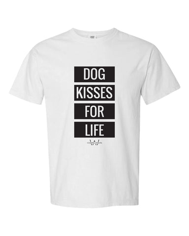 Dog Kisses Unisex T-Shirt (White)