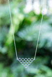 Immersed Mermaid Scale Necklace - Silver