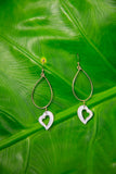 NOELANI DESIGNS Open Heart Hoop Earrings - Gold