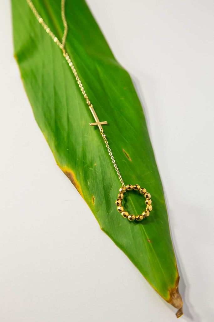 Cross Hand Chain - Gold