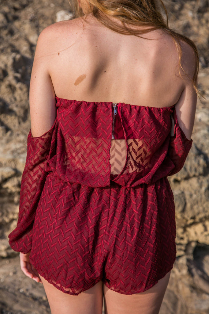 Black Magic Romper - Wine