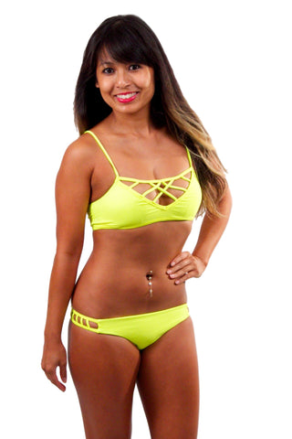 ISSA DE' MAR Hina Top - Neon