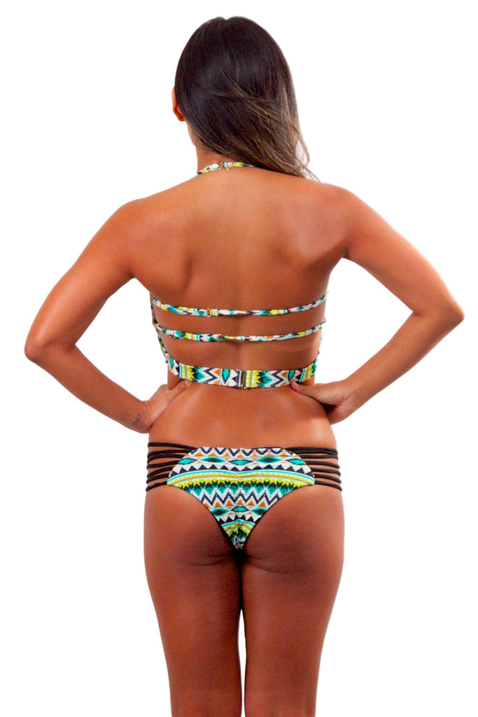 ISSA DE' MAR Reversible Sunset Bottom - Black/Tribal