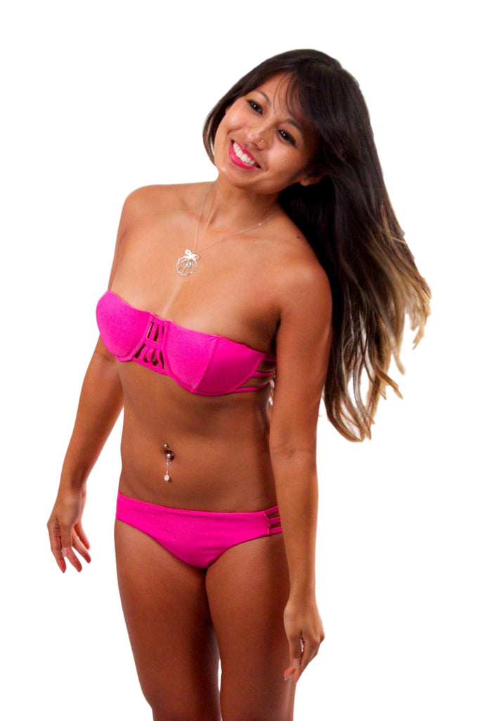 ISSA DE' MAR Moorea Top - Pink
