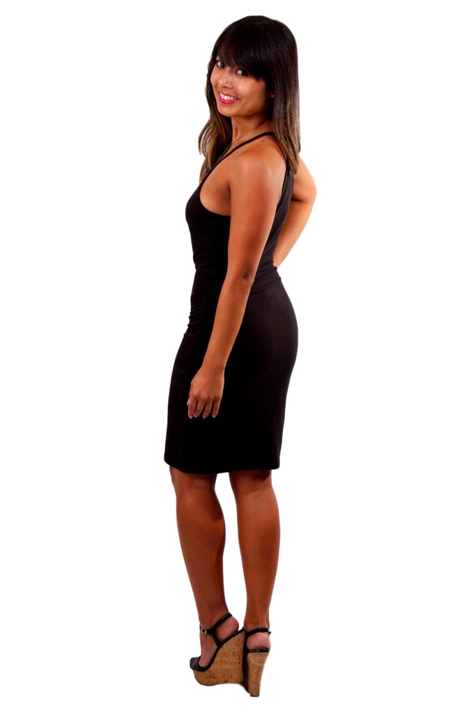 Body-con Mini Dress - Black