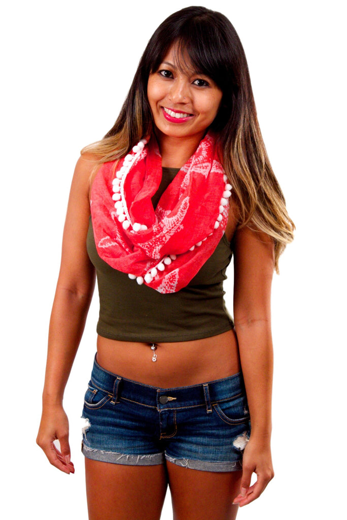 Oceania Infinity Scarf - Starfish Coral
