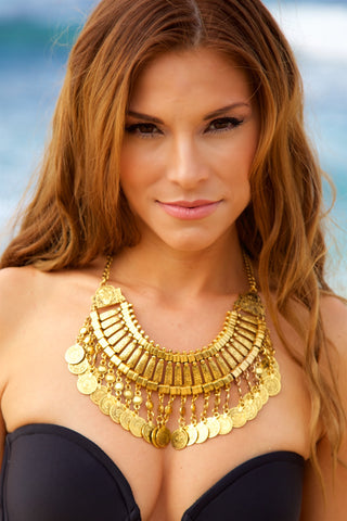 NOMAD HAWAII Coin Necklace - Gold