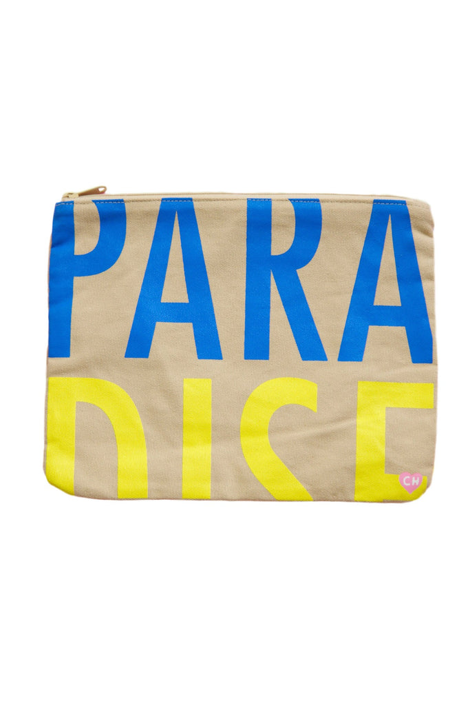 CAMERON HAWAII Large Clutch - Paradise Blue Tide/Sunkiss