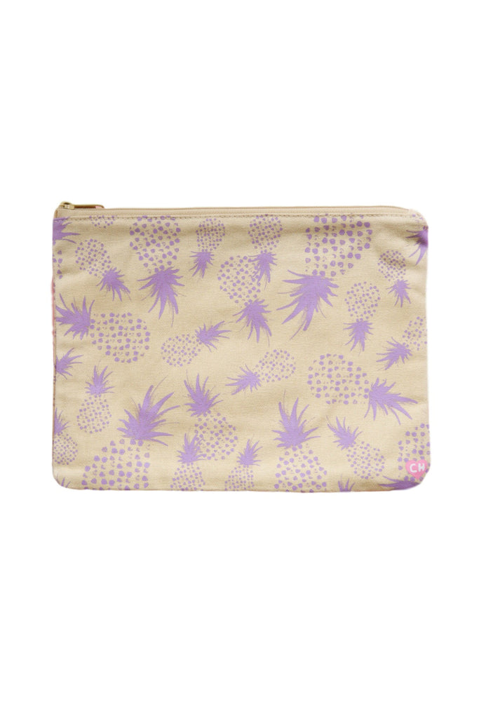 CAMERON HAWAII Large Clutch - Crazy Pineapples Lilac