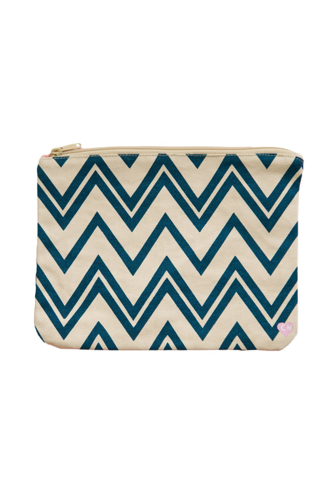CAMERON HAWAII Large Clutch - Zig Zag Blueberry