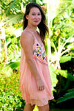Trapeze Dress - Peach
