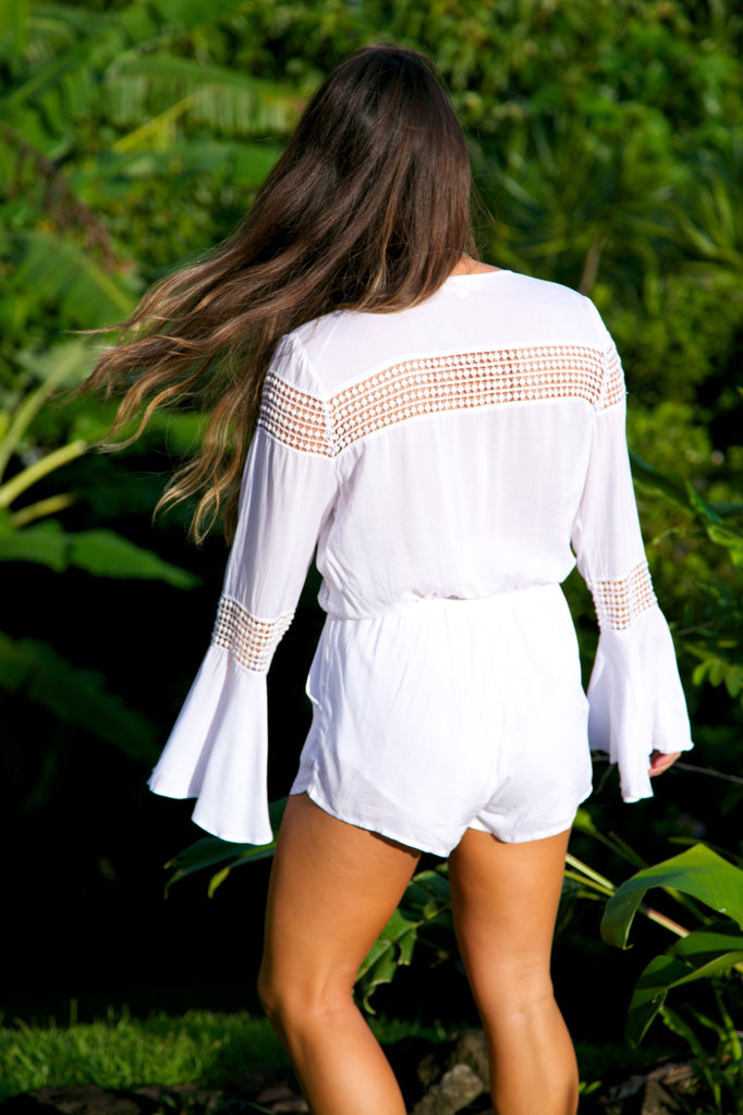 Fresh Fields Romper - White