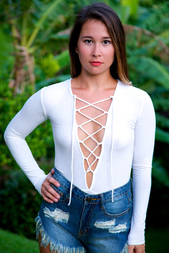 Heart of Glass Bodysuit - Ivory