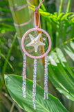 NOMAD HAWAII Small Ocean Dreamcatcher - Tahitian Pearl/Mystic & Baby Pink