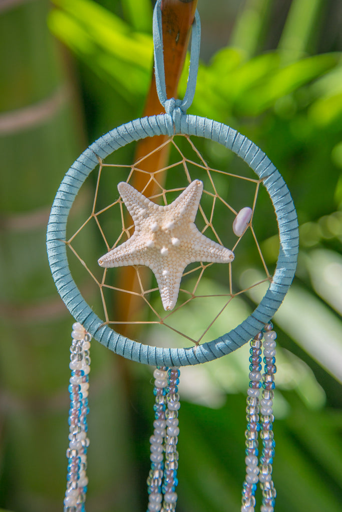 NOMAD HAWAII Small Ocean Dreamcatcher - Starfish/Mystic Blue
