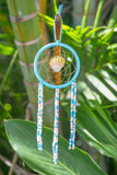 NOMAD HAWAII Small Ocean Dreamcatcher - Sunrise Shell/Peach & Baby Blue