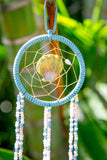 NOMAD HAWAII Small Ocean Dreamcatcher - Sunrise Shell/Peach & Mystic Blue