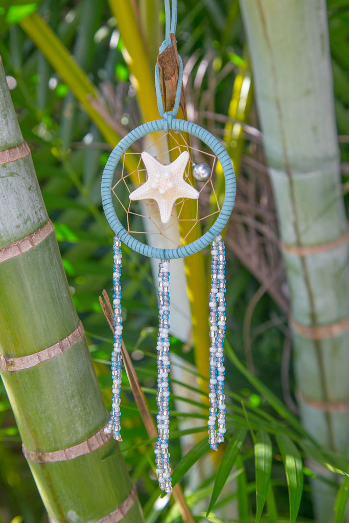NOMAD HAWAII Small Ocean Dreamcatcher - Tahitian Pearl/Mystic Blue