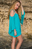 Boho Blouse Top - Sea Foam