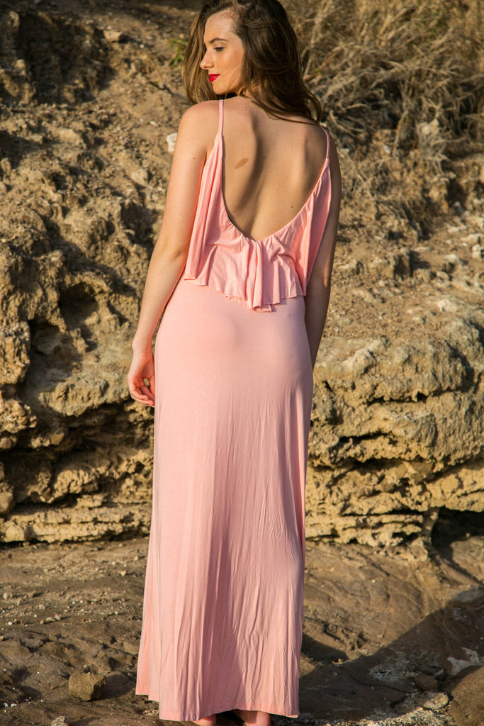 Flouncy Maxi Dress - Blush