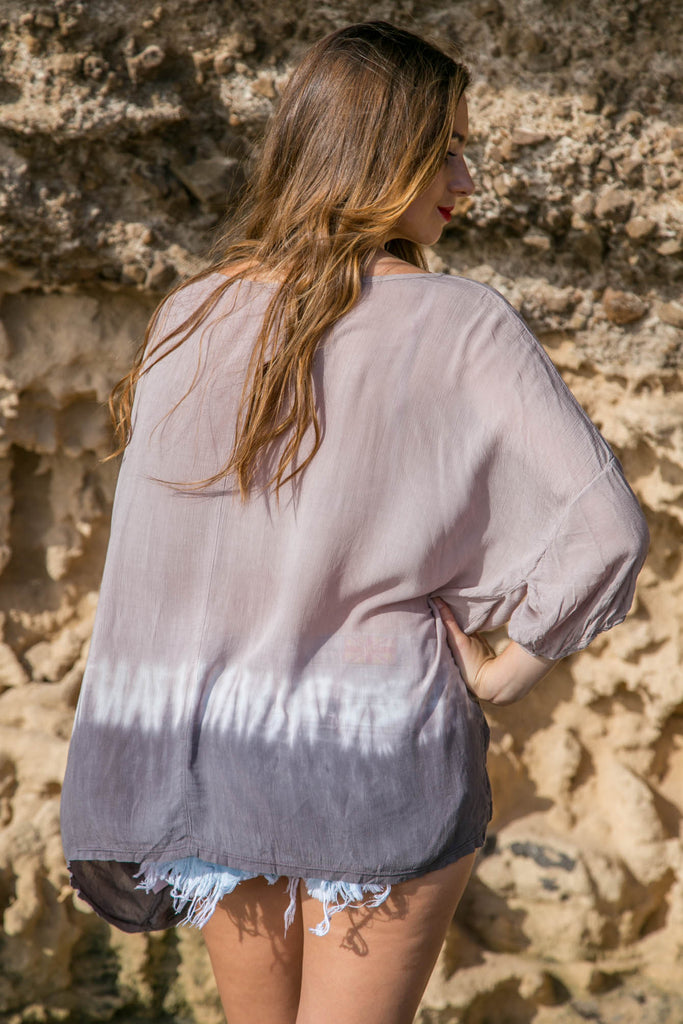 Pocket Blouse Top - Tie Dye