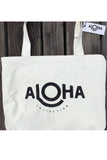ALOHA COLLECTION Reversible Tote - Coco Palms White