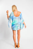 TIARE HAWAII Aphrodite Tunic - Blue/Teal Smoke