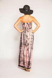 TIARE HAWAII Jasmine Long Dress - Pink/Black Tie Dye