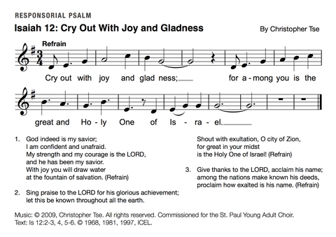 Isaiah 12: Cry Out With Joy and Gladness