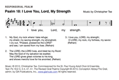 Psalm 18: I Love You, Lord, My Strength