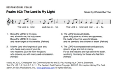 Psalm 103: The Lord is Kind and Merciful