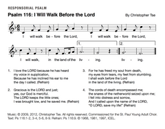 Psalm 116: I Will Walk Before the Lord