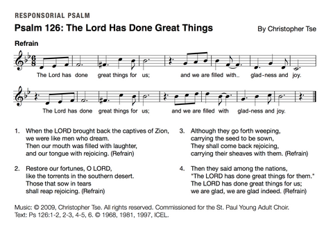 Psalm 126: The Lord Has Done Great Things