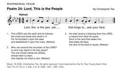 Psalm 24: Lord, This is the People by Christopher Tse [Assembly Version]