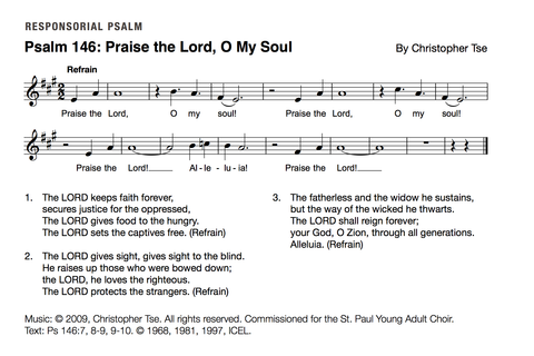 Psalm 146: Praise the Lord, O My Soul