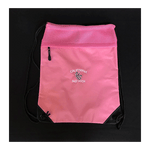 Cinch Pack with Mesh Trim – Pink