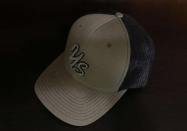 YS Trucker Hat - Olive/Military Green and Black - Snapback - Limited Quantity
