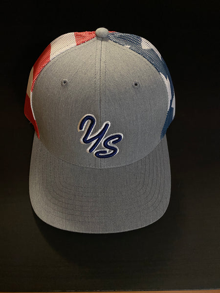 YS Trucker Hat - Grey/Stars & Stripes - Snapback