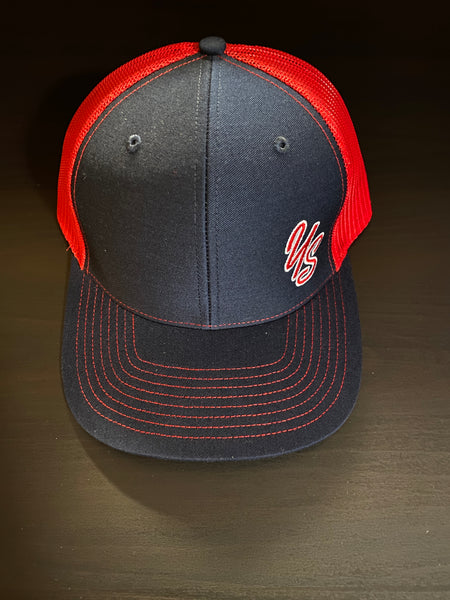 YS Trucker Hat - Navy/Red - Snapback - Custom Design