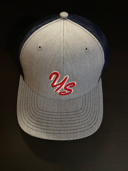 YS Trucker Hat - Grey/Navy - Snapback