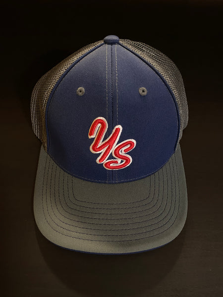 Yard Sharks Flex Fit Hat - Navy with Grey Bill - CLOSEOUT! ONE LEFT!