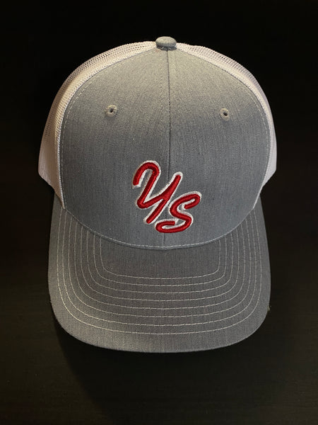 YS Trucker Hat - Grey/White - Snapback