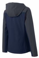 Navy / Grey Yard Sharks Ladies Hooded Core Soft Shell Jacket