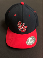 Yard Sharks Flex Fit Hat - Navy with Red Bill