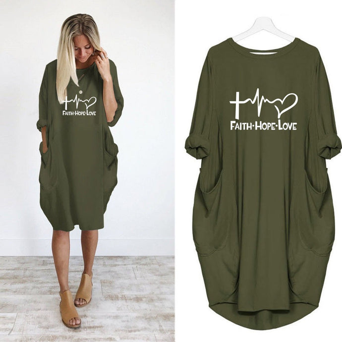 Faith Hope Love Over Sized Shirt