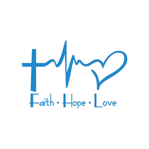 Faith Hope Love Car Sticker
